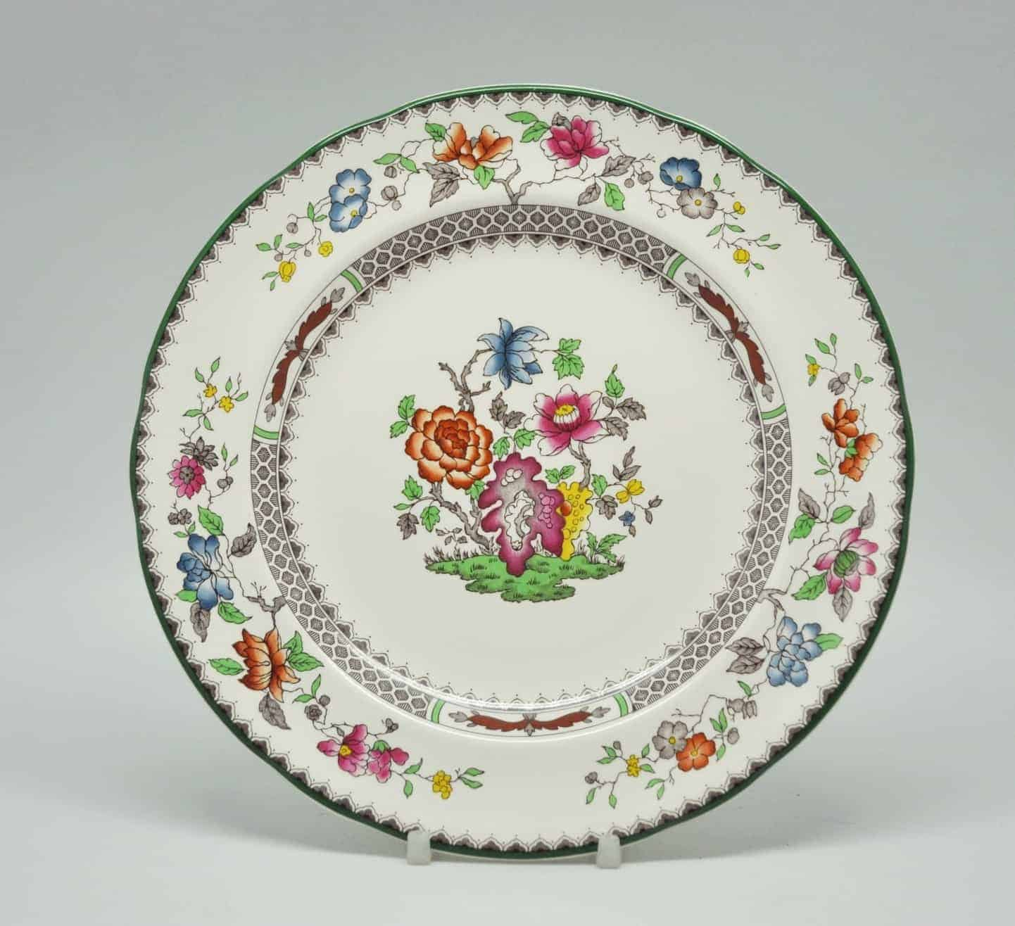 Copeland Spode Chinese Rose Pattern Fish Plate Clyde On