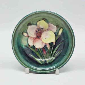 Moorcroft Coral Hibiscus Pattern Small Dish - Clyde on 4th Antiques