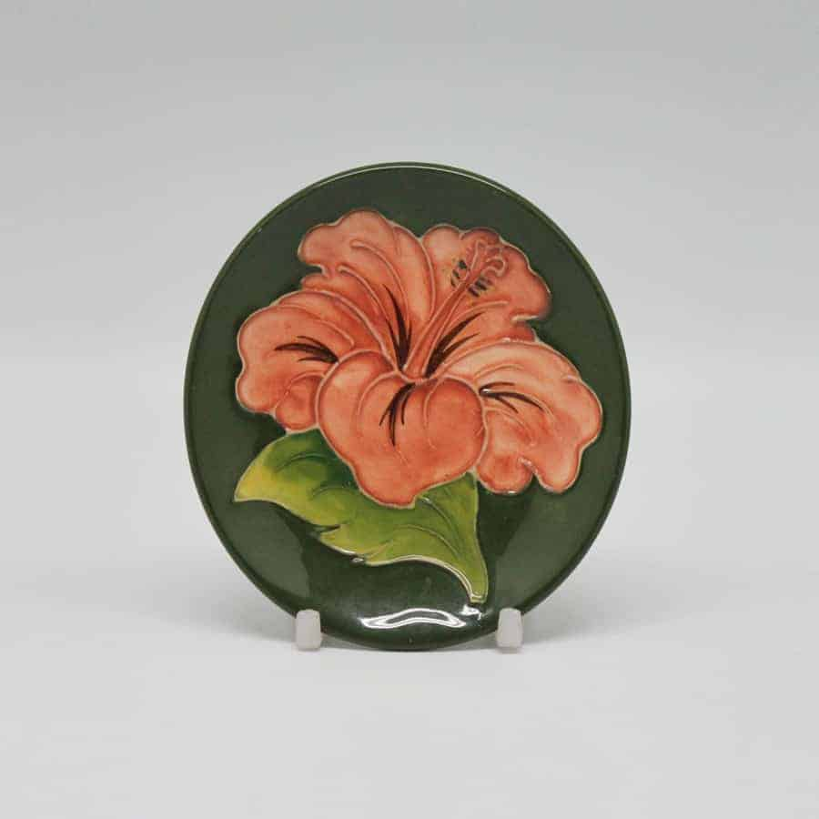 Moorcroft Coral Hibiscus Pattern Small Dish