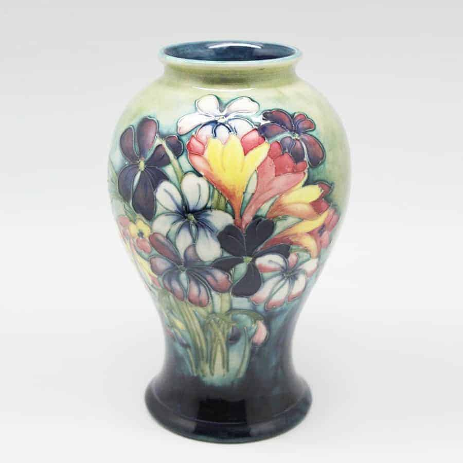 Moorcroft Spring Flowers Pattern Vase Clyde On 4th Antiques