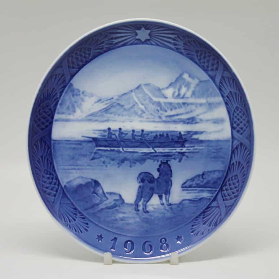 Royal Copenhagen The Last Umiak Christmas Plate - Clyde on ...