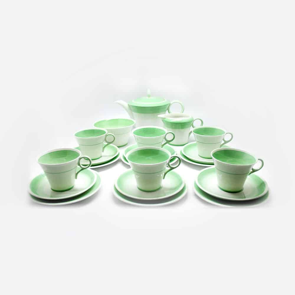 Shelley Green Swirls Pattern Tea Set Clyde On 4th