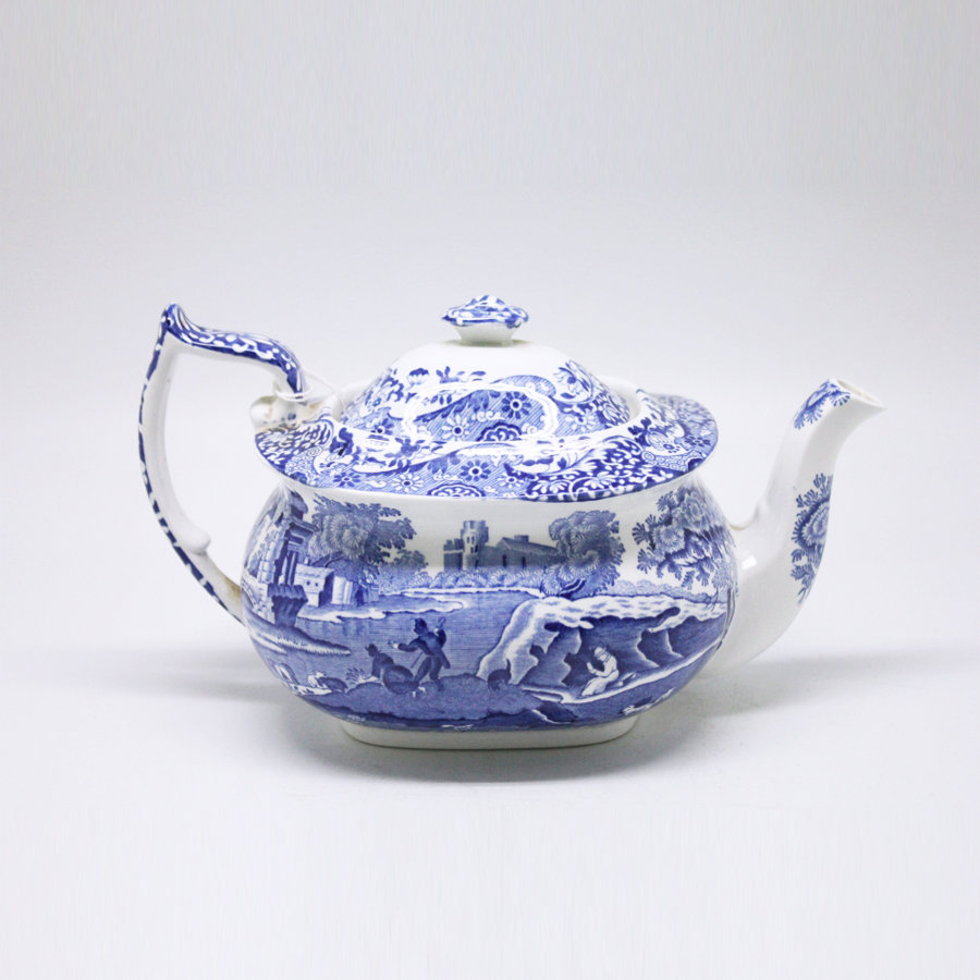Copeland Spode Blue Italian Pattern Bachelor S Teapot