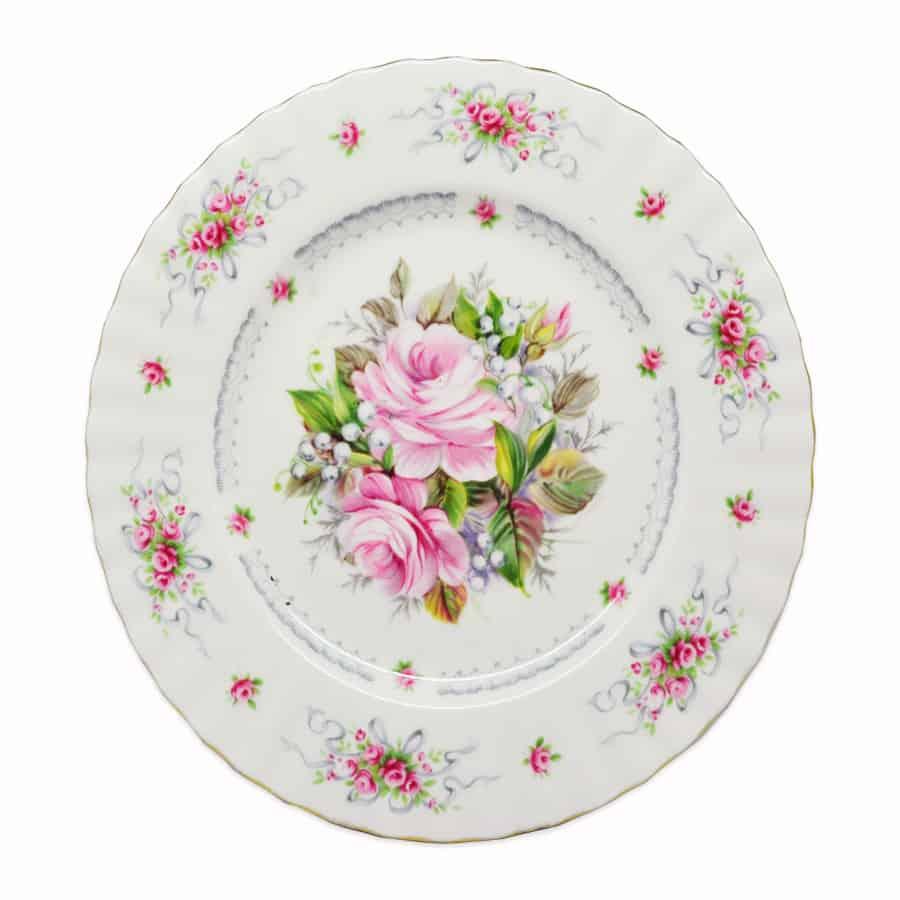 Royal Albert Happy Birthday Pattern Bread Plate